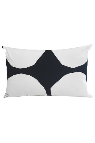 "Marimekko Kivet Custom 15x23"" Pillow Cover White/Black"