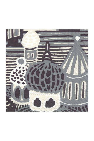Marimekko Kumiseva Luncheon Napkins Grey/Cream