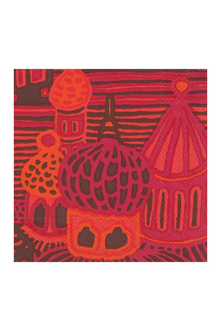 Marimekko Kumiseva Cocktail Napkins Orange/Red