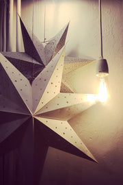 Nest Factory Medium Grey Leaf Paper Star
