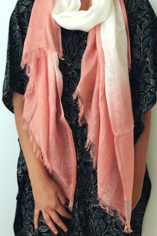 Nest Factory Linen Ombre Scarf Pink