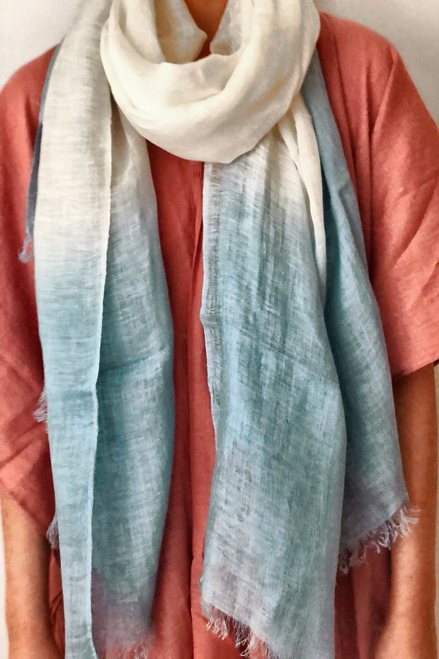 Nest Factory Linen Ombre Scarf Teal