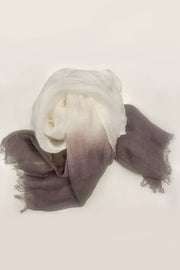 Nest Factory Linen Ombre Scarf Charcoal Grey/Purple