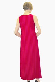 Ristomatti Ratia Long Striped Tank Dress Red/Pink