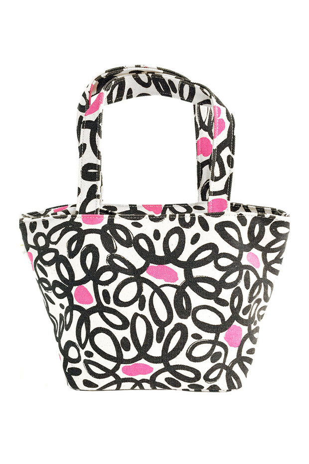 See Design See Design Lunch Tote Bag Wired Black/Pink - KIITOSlife