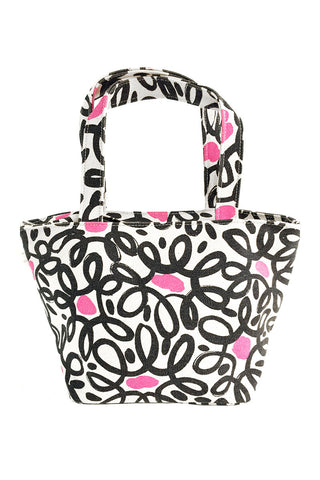 See Design Lunch Tote Bag Wired Black/Pink