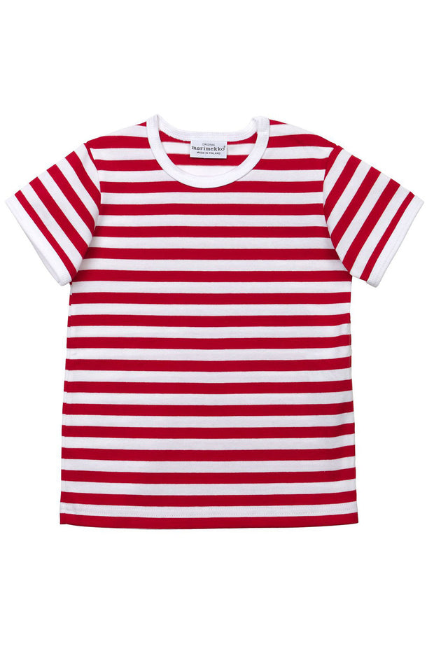 Marimekko Lyhythiha Infant Neppis T-Shirt Red/White