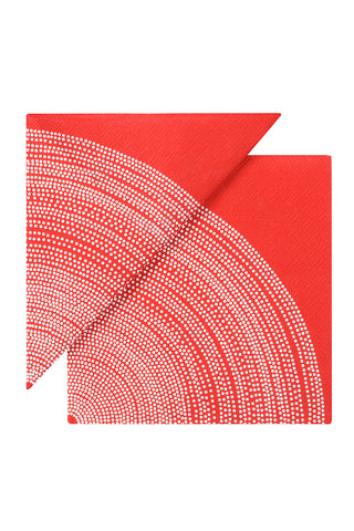 Marimekko Fokus Cocktail Napkins Red/White