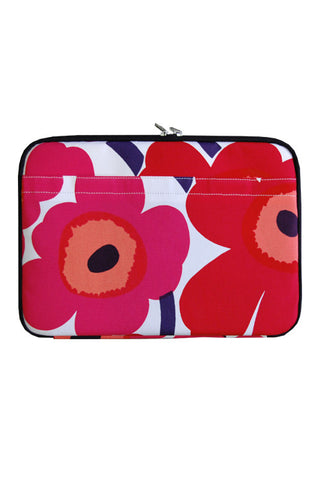 Marimekko Huppu Pieni Unikko Laptop Case Red/White