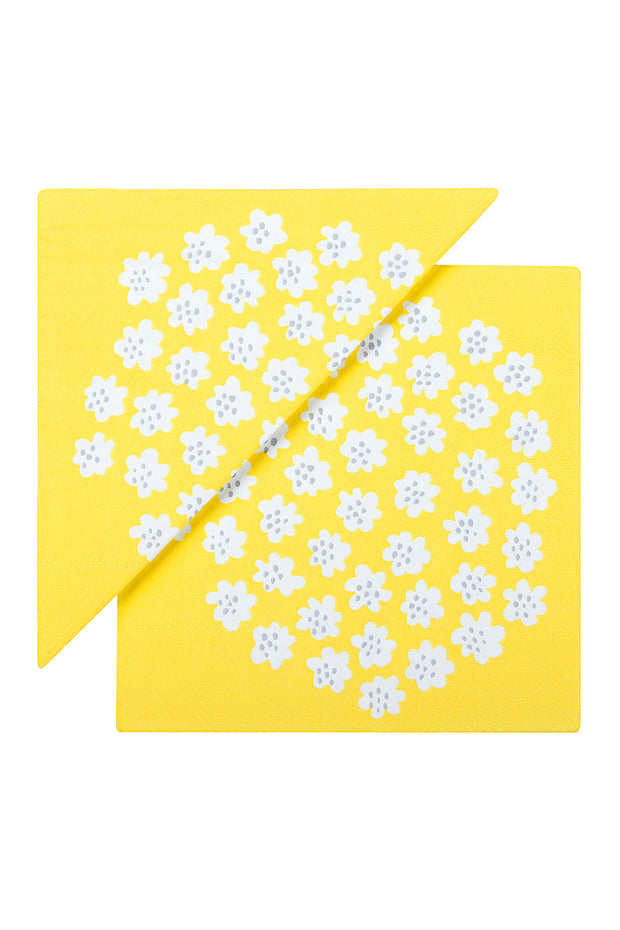Puketti Paper Luncheon Napkins Yellow