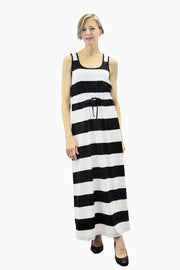 Ratia Maxi Stripe Helle Maxi Dress Black/White