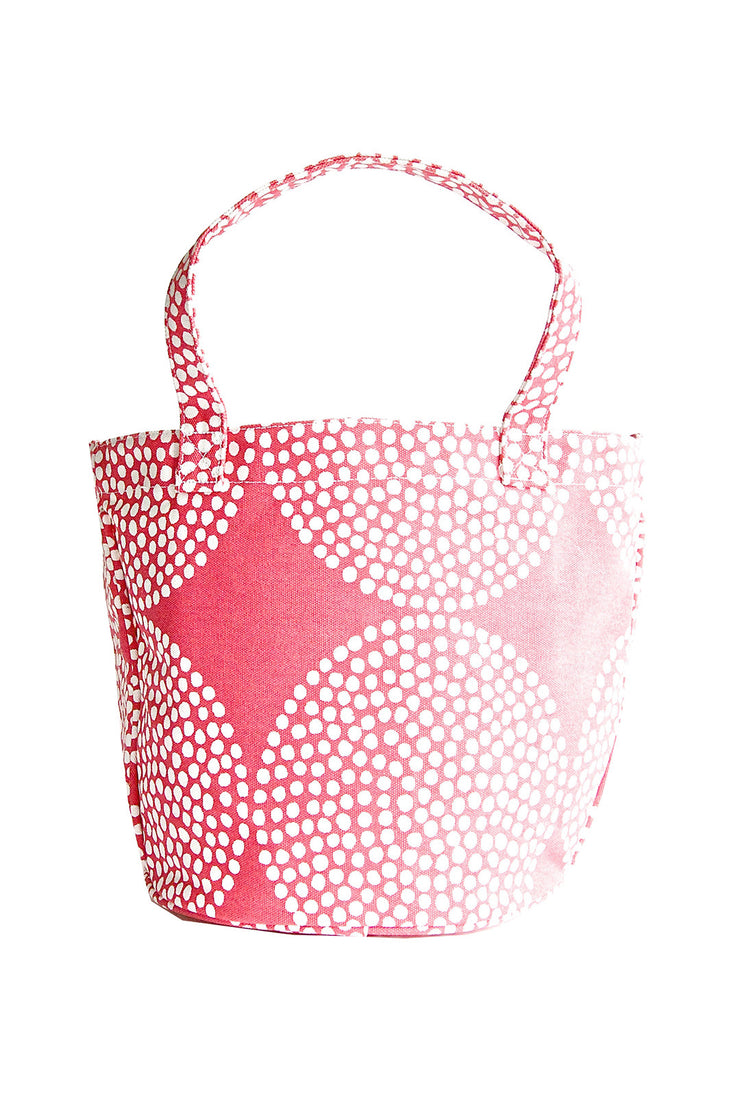See Design See Design Medium Circle Tote Bag Big Wheels Salmon/White - KIITOSlife