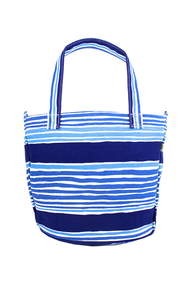 See Design See Design Medium Circle Tote Bag Layer Stripe Blue - KIITOSlife