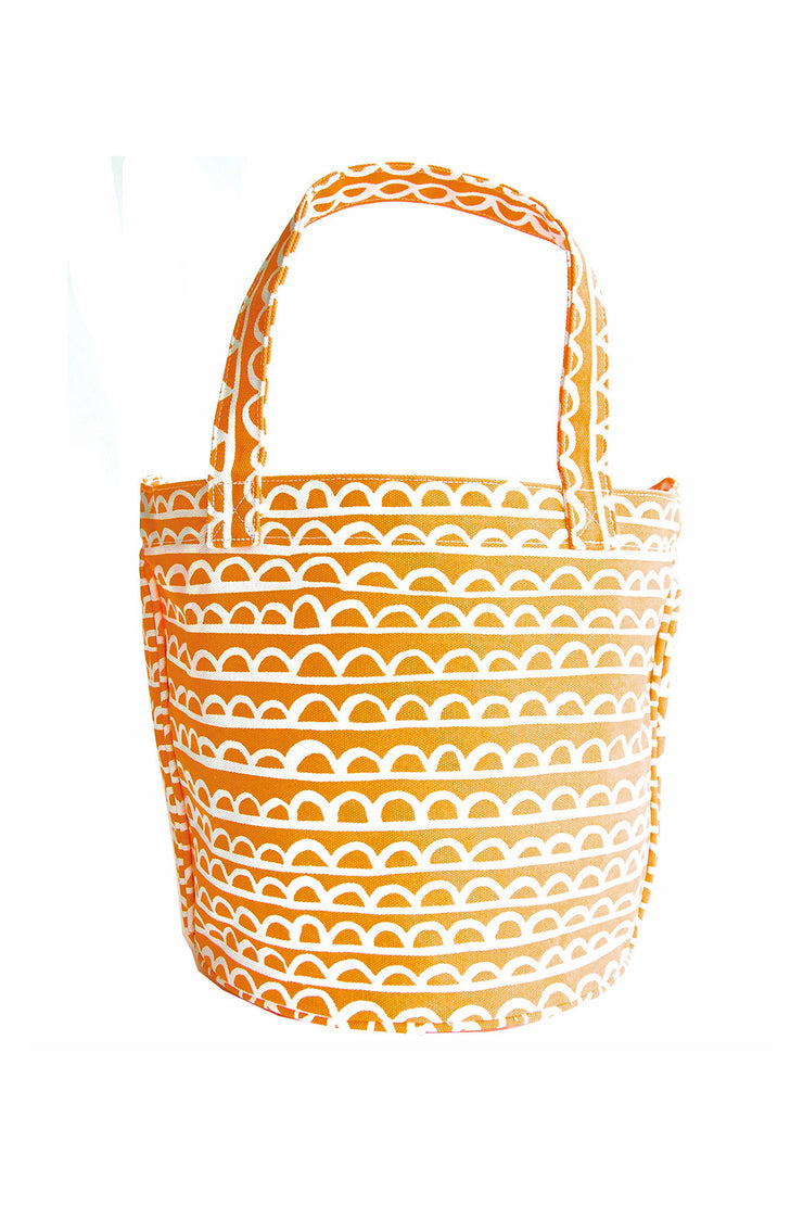 See Design See Design Medium Circle Tote Bag Scallop Coral/White - KIITOSlife