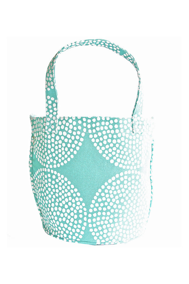 See Design See Design Medium Circle Tote Bag Big Wheels Turquoise/White - KIITOSlife