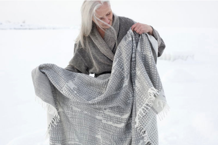 Lapuan Kankurit Mesi Grey Wool Blanket