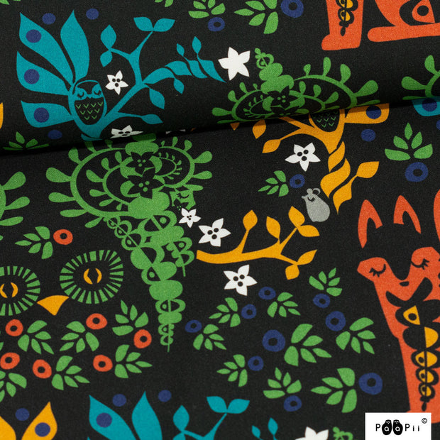 PaaPii Mielikki Folklore Cotton Fabric Multi