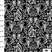 PaaPii Mielikki Cotton Fabric Black/White