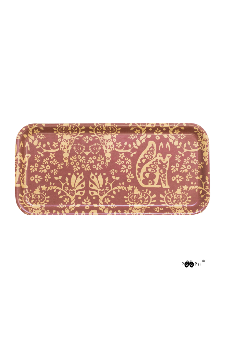PaaPii Mielikki Rectangular Tray Red