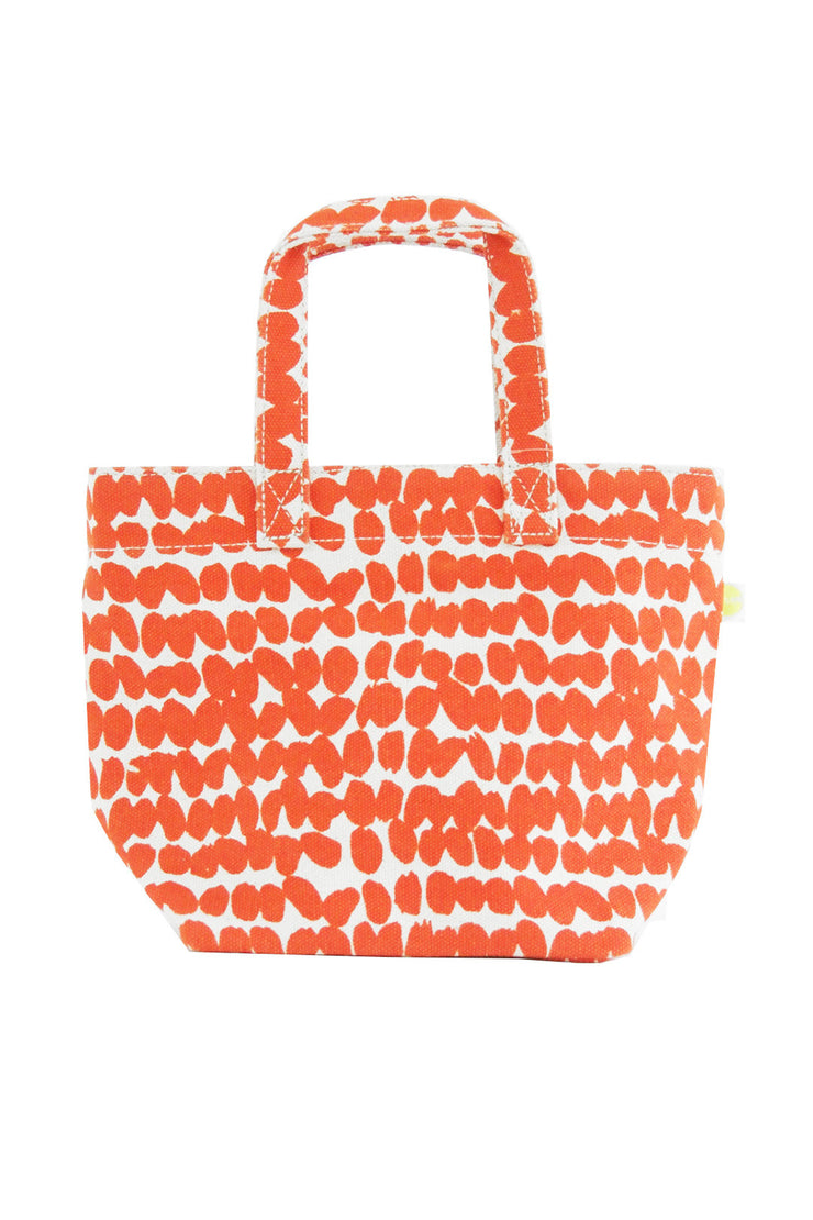 See Design See Design Mini Square Tote Bag Smudge Tomato/White - KIITOSlife