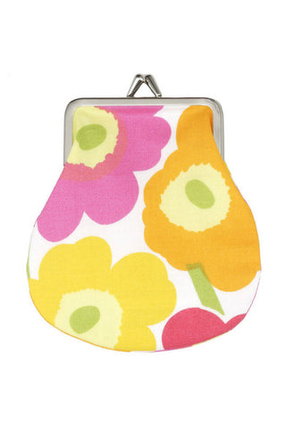 Marimekko Mini Unikko Pieni Kukkaro Pink/Orange/Yellow