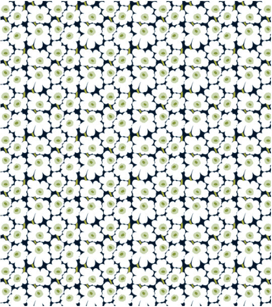 Marimekko Marimekko Mini Unikko Fabric Black/White/Green - KIITOSlife - 1