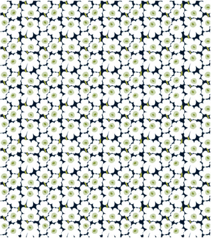 Marimekko Mini Unikko Fabric Black/White/Green