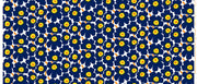 Marimekko Marimekko Mini Unikko Fabric Ink Blue/Yellow/White - KIITOSlife - 2