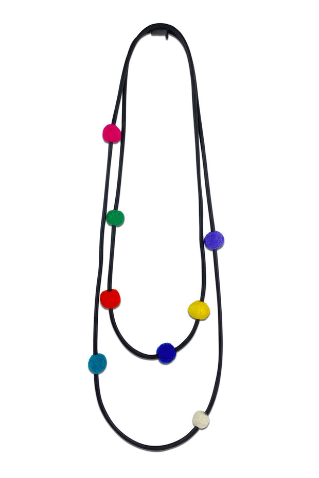 Frank Ideas 8 Felt Beads Necklace Multi