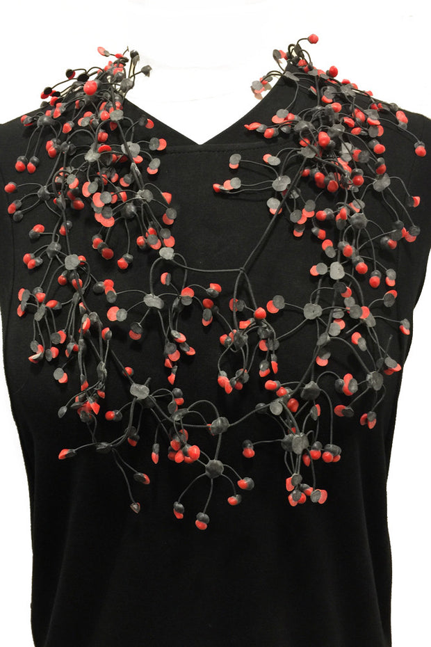 Annemieke Broenink Annemieke Broenink Multi Dot Necklace Red - KIITOSlife - 3