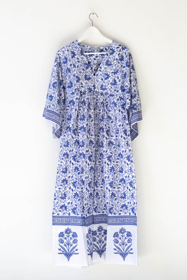 Nest Factory Lounging Maxi Dress Blue Flower