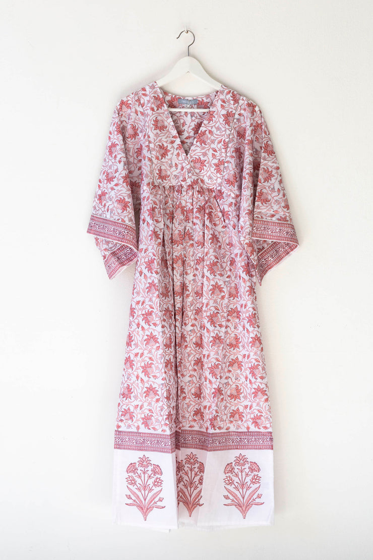 Nest Factory Lounging Maxi Dress Pink Flower