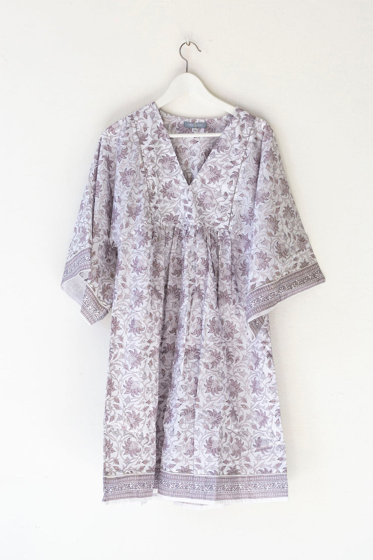 Nest Factory Lounging Mini Dress Lavender Flower
