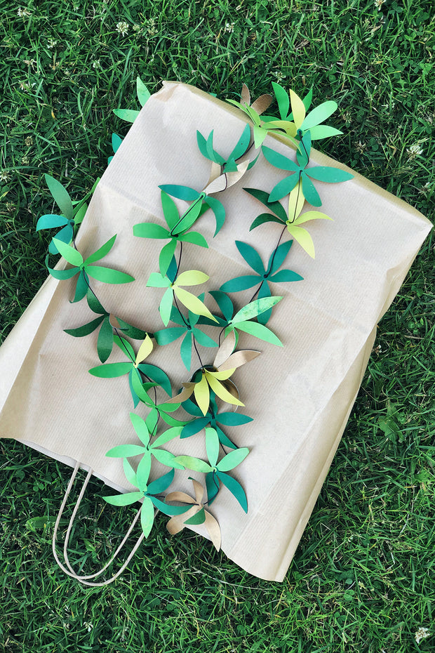 Nest Factory Green Leaf Recycled Paper Garland