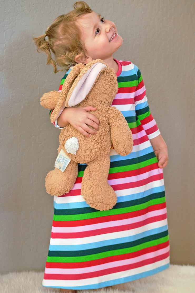 KIITOSlife KiitosKids Autumn Stripe Kids Nightgown - KIITOSlife - 3