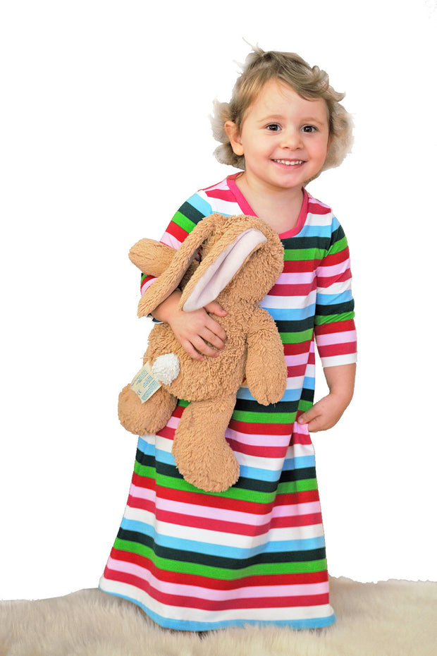 KIITOSlife KiitosKids Autumn Stripe Kids Nightgown - KIITOSlife - 2
