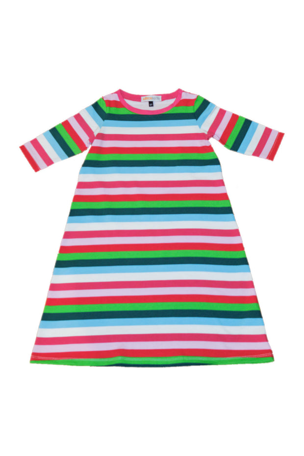 KIITOSlife KiitosKids Autumn Stripe Kids Nightgown - KIITOSlife - 1