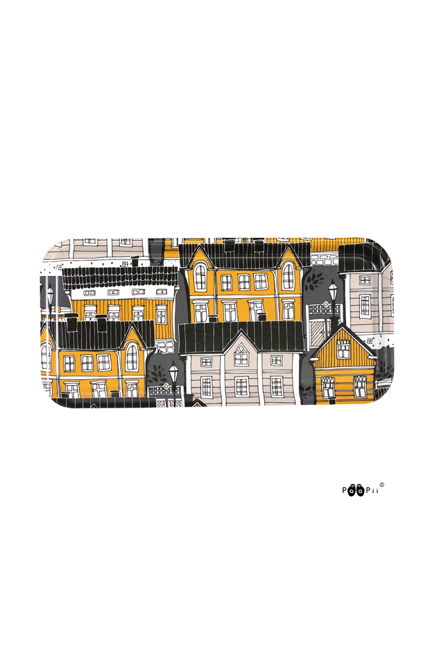 PaaPii Old Town Rectangular Tray Ochre
