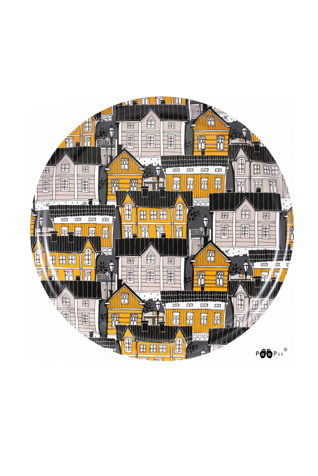 PaaPii Old Town Round Tray Ochre