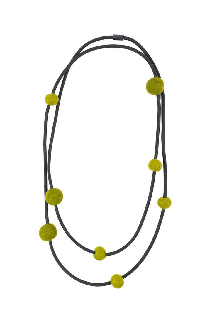 Frank Ideas 8 Medium Felt Beads Necklace Olive