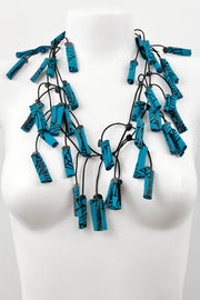 Annemieke Broenink PaaPii Fabric Roll Necklace Adler Petrol