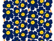 Marimekko Marimekko Pieni Unikko 2 Fabric Ink Blue/Yellow/White - KIITOSlife - 2