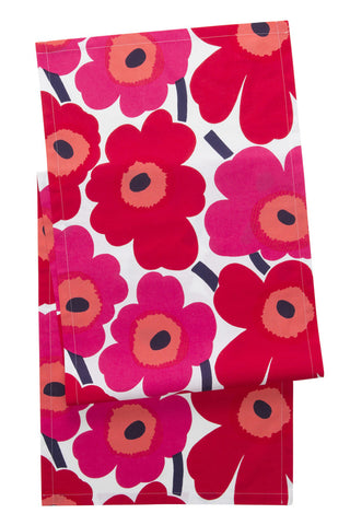 Marimekko Pieni Unikko Table Runner Red/Pink/White