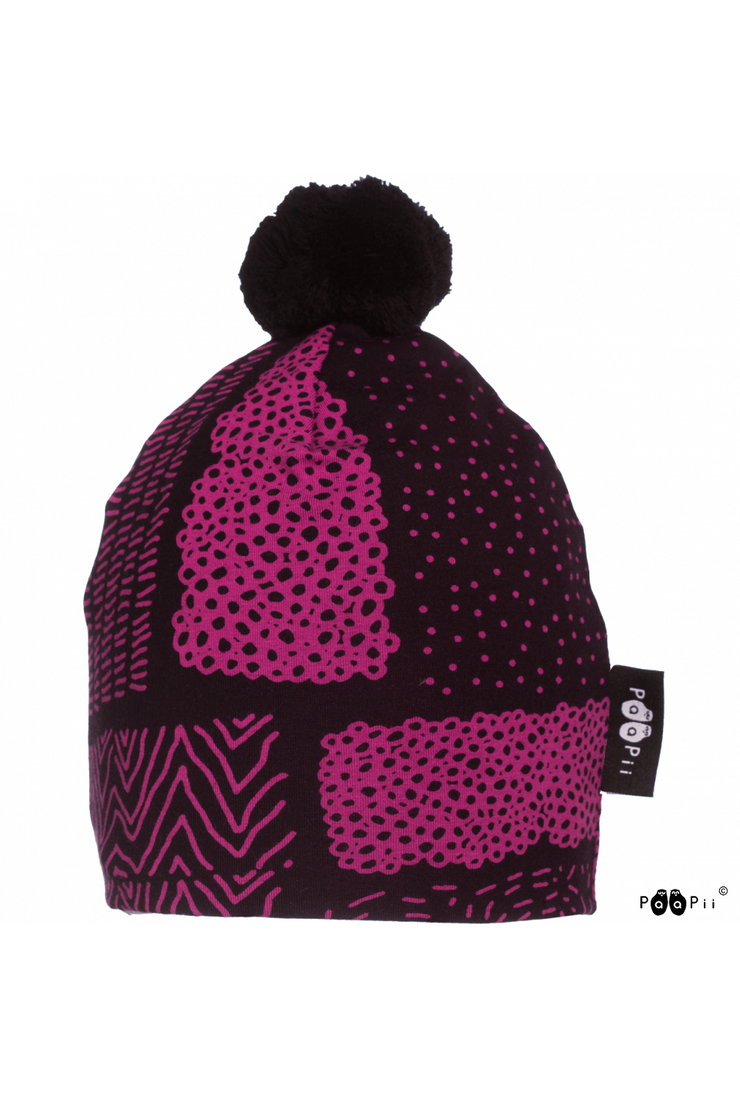 PaaPii Sarka Pom Pom Beanie Purple for Adults & Kids