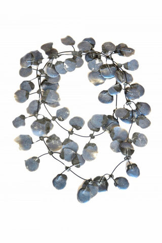 Annemieke Broenink Poppy Necklace Metallic Midnight Blue