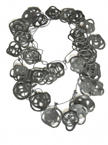 Annemieke Broenink Poppy Pretzel Necklace Charcoal