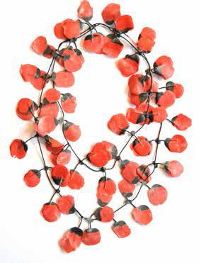 Annemieke Broenink Poppy Necklace Basic Red