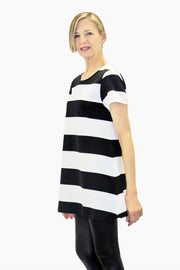 Ristomatti Ratia Maxi Stripe Pouta T-Shirt Black/White