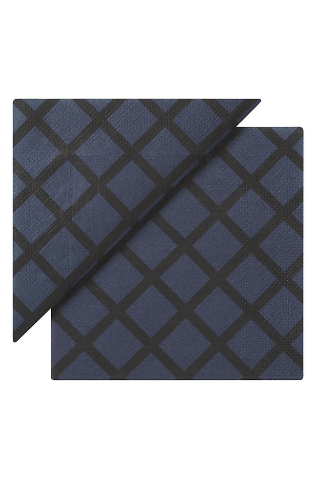 Marimekko Quilt Cocktail Napkins Blue/Black