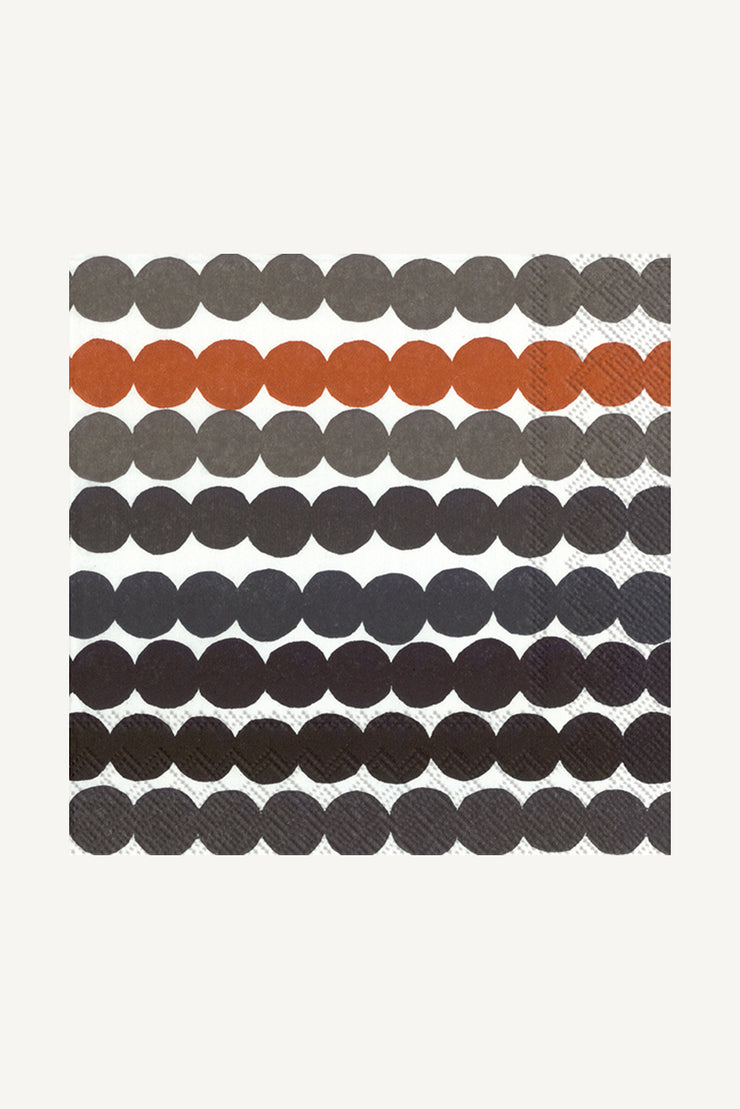 Marimekko Rasymatto Cocktail Napkins Brown